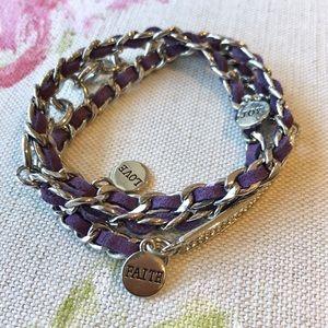 Premier Designs Inspirational Charm Wrap Bracelet